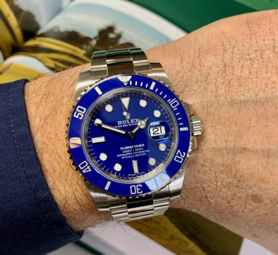 ROLEX SUBMARINER 18CT WHITE GOLD BLUE DIAL 116619LB 5