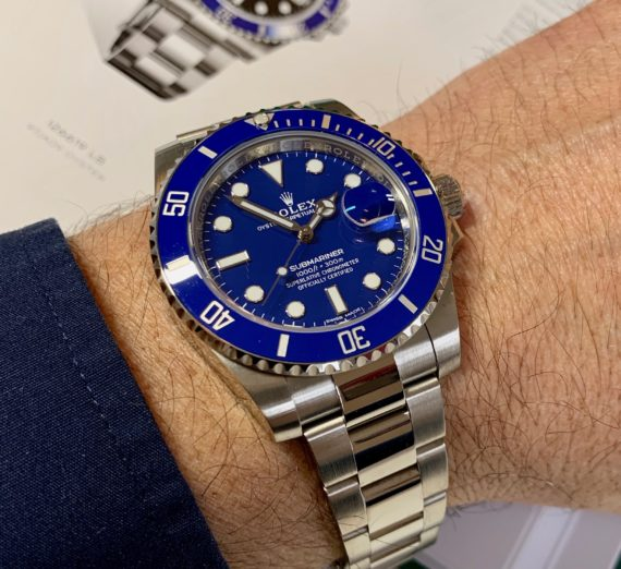 ROLEX SUBMARINER 18CT WHITE GOLD BLUE DIAL 116619LB 6