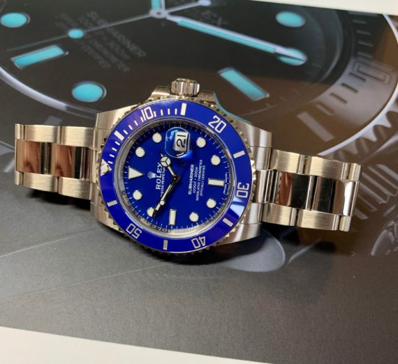 ROLEX SUBMARINER 18CT WHITE GOLD BLUE DIAL 116619LB 7
