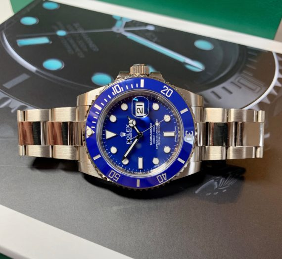 ROLEX SUBMARINER 18CT WHITE GOLD BLUE DIAL 116619LB 8