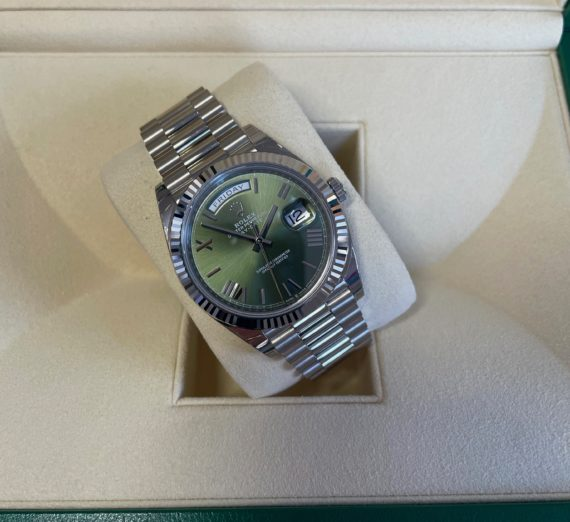18CT WHITE GOLD DAY DATE MODEL 228239 2