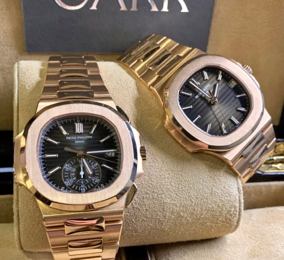 PATEK PHILIPPE 18CT ROSE GOLD NAUTILUS MODEL 5980/1R-001