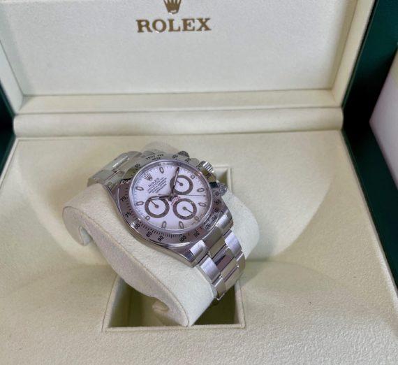 ROLEX DAYTONA WHITE DIAL MODEL 116520 4