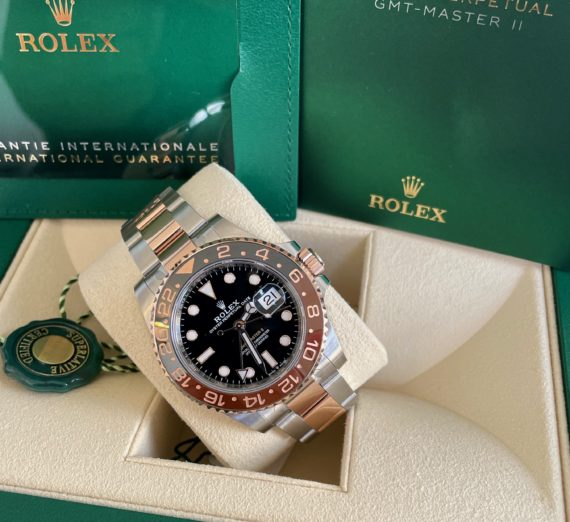 A 2021 ROLEX GMT MASTER  IN 18CT ROSE GOLD AND STEEL 3