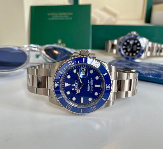 A NEW ROLEX SUBMARINER FULL BLUE MODEL 116619LB