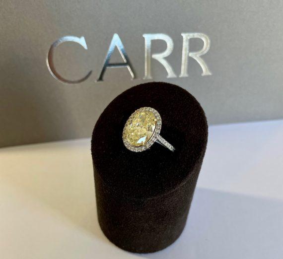 NATURAL YELLOW DIAMOND RING 1