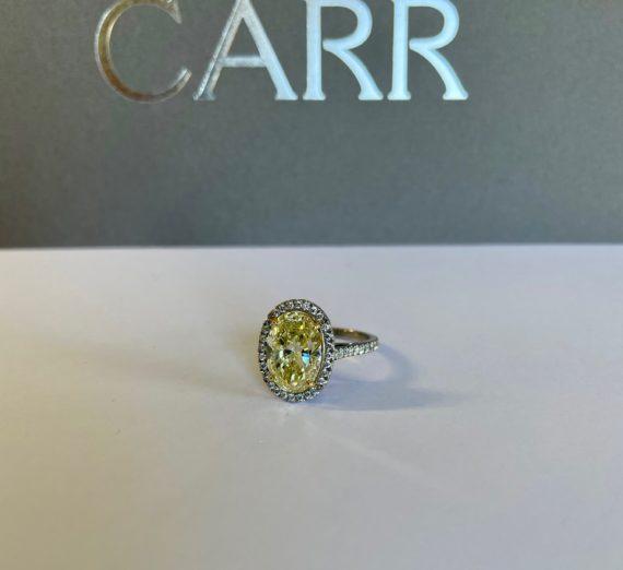 NATURAL YELLOW DIAMOND RING 2