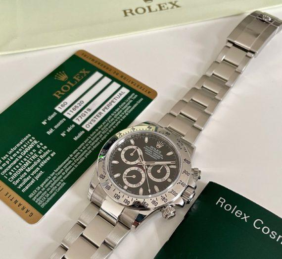 ROLEX COSMOGRAPH BLACK DIAL MODEL 116520 5