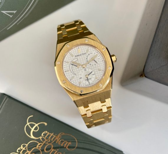 AUDEMARS PIGUET DUAL TIME 18CT YELLOW GOLD 25730BA 6