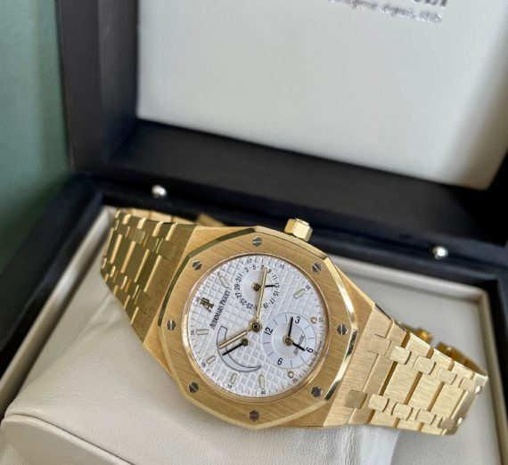 AUDEMARS PIGUET DUAL TIME 18CT YELLOW GOLD 25730BA 7
