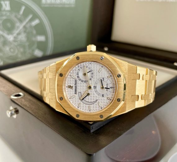 AUDEMARS PIGUET DUAL TIME 18CT YELLOW GOLD 25730BA 8