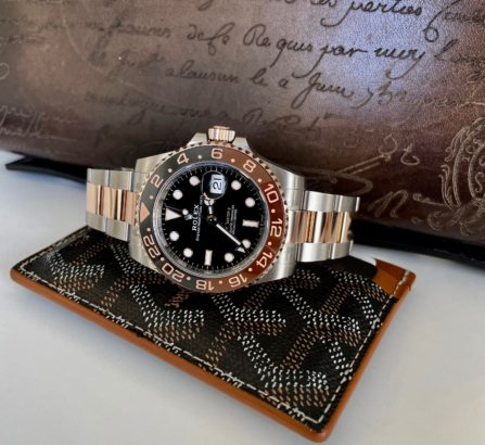 ROSE GOLD AND STEEL GMT MASTER