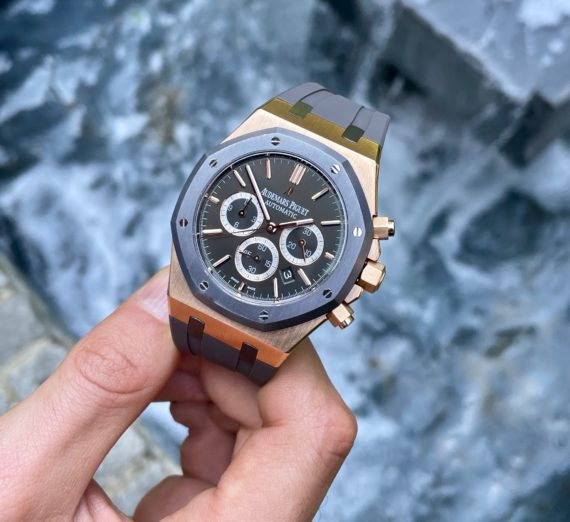 A LIMITED EDITION ROSE GOLD AUDEMARS MODEL 26325OL.OO.D005CR.01 10