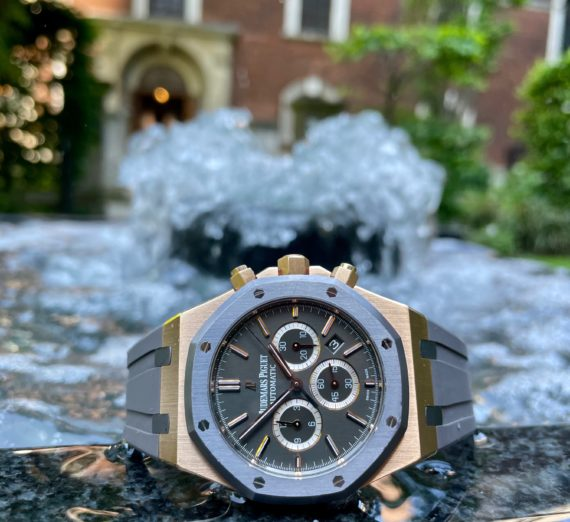 A LIMITED EDITION ROSE GOLD AUDEMARS MODEL 26325OL.OO.D005CR.01 14