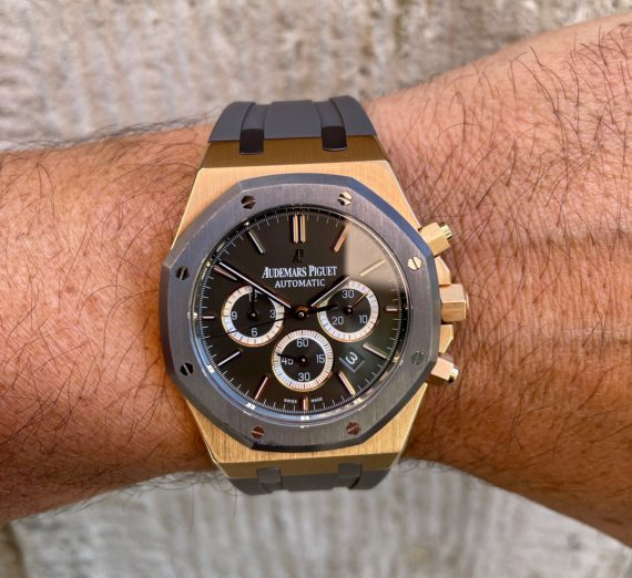 A LIMITED EDITION ROSE GOLD AUDEMARS MODEL 26325OL.OO.D005CR.01 6