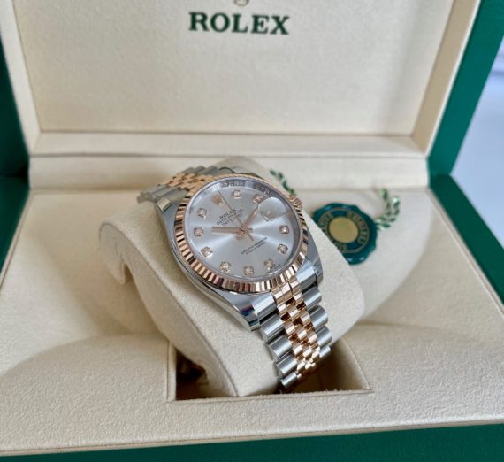 ROLEX DATEJUST 18CT ROSE GOLD AND STAINLESS STEEL MODEL 116231 4