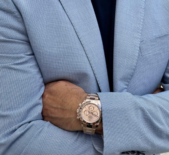 ROLEX DAYTONA IN ROSE GOLD WITH A DIAMOND SET DIAL MODEL 116505 1