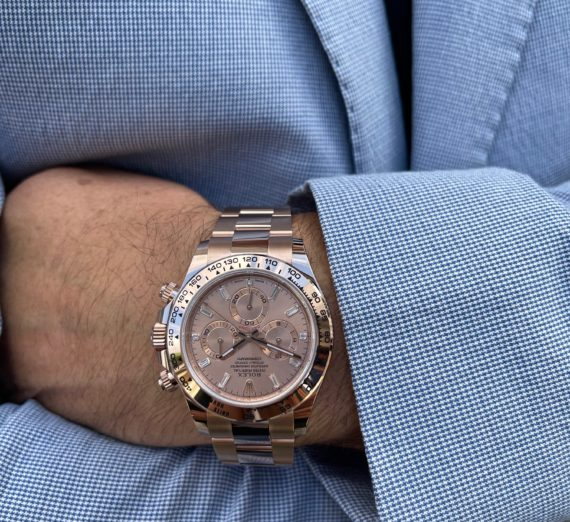 ROLEX DAYTONA IN ROSE GOLD WITH A DIAMOND SET DIAL MODEL 116505 2