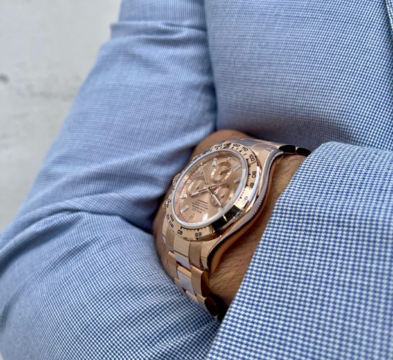 ROLEX DAYTONA IN ROSE GOLD WITH A DIAMOND SET DIAL MODEL 116505 3