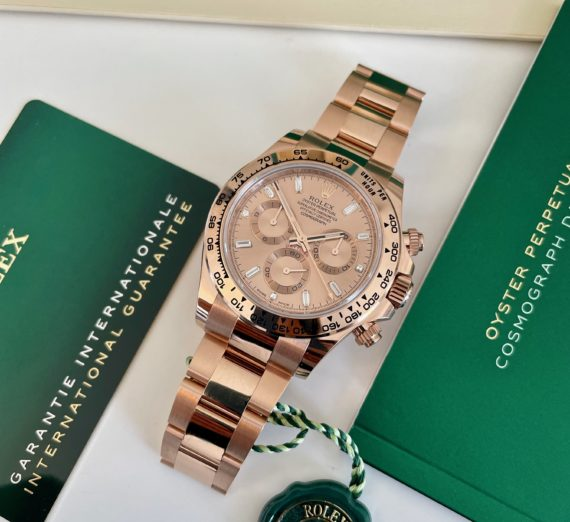 ROLEX DAYTONA IN ROSE GOLD WITH A DIAMOND SET DIAL MODEL 116505 4