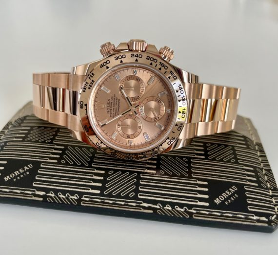 ROLEX DAYTONA IN ROSE GOLD WITH A DIAMOND SET DIAL MODEL 116505