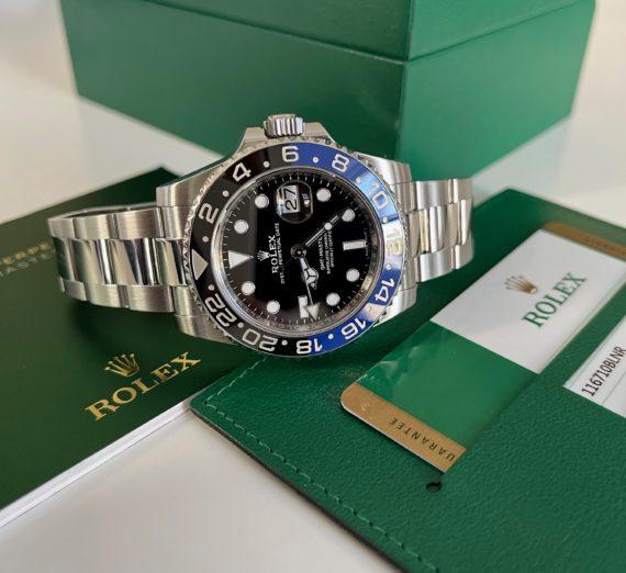 ROLEX GMT BLUE-BLACK BEZEL MODEL 116710BLNR 2