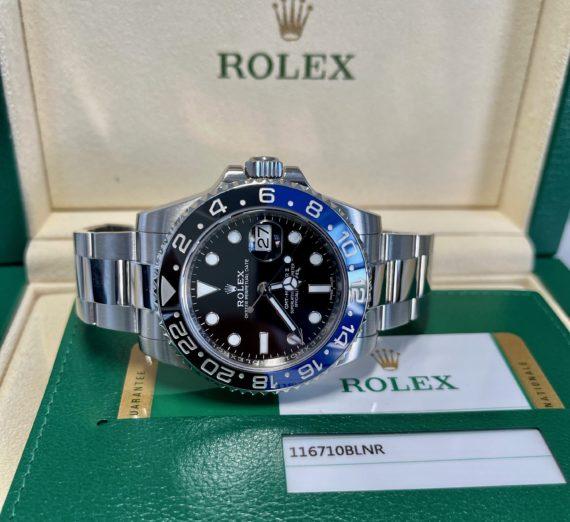 ROLEX GMT BLUE-BLACK BEZEL MODEL 116710BLNR