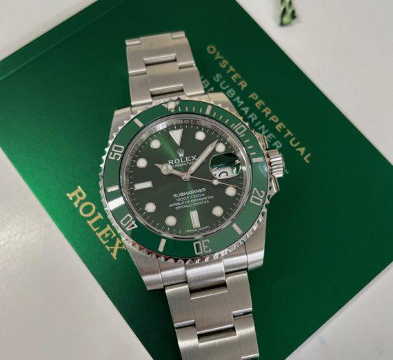ROLEX SUBMARINER FULL GREEN MODEL 116610LV 9