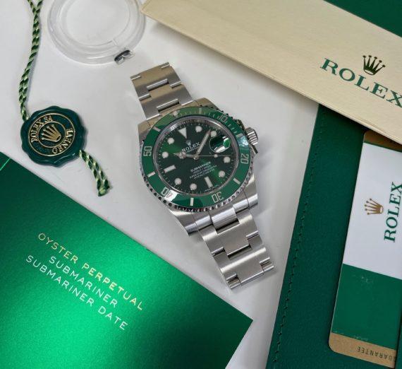 ROLEX SUBMARINER FULL GREEN MODEL 116610LV 8